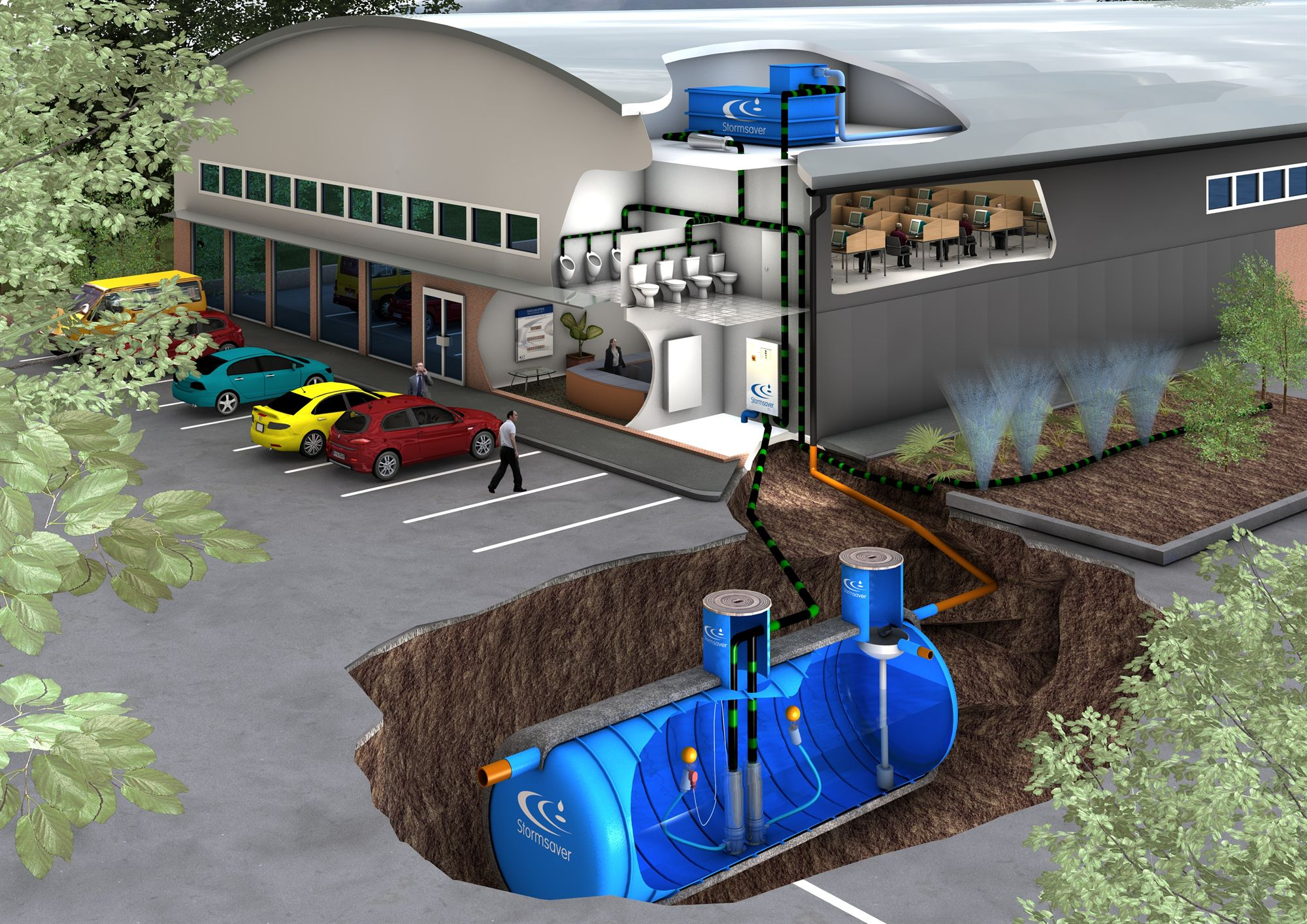 Large Scale And Commercial Rainwater Harvesting The