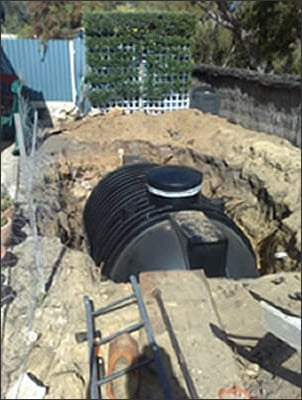below ground rainwater harvesting tank installation
